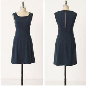 Anthropologie Deletta fitted knit dress